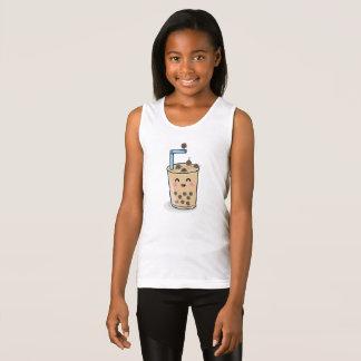 El tanque de los chicas del té de la perla de Boba Camiseta De Tirantes