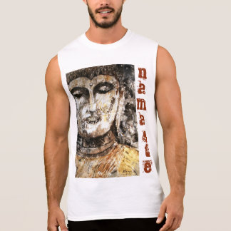 El tanque de los hombres del arte de Namaste Buda Camiseta Sin Mangas