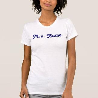 """El tanque de """"señora Name"""" - trasero: """"Est. Camisetas"""
