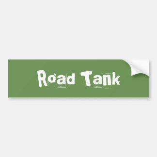 El tanque del camino pegatina para coche