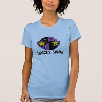 el tanque del chica del swag del spacey camisetas