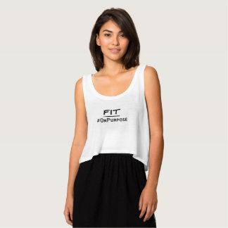 El tanque del #FitOnPurpose (el tanque de Flowy) Camiseta Con Tirantes