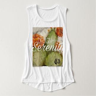 El tanque geométrico del músculo de las mujeres camiseta con tirantes