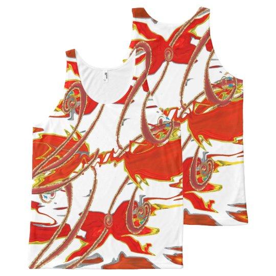 El tanque top-Único, arte abstracto /All sobre Camiseta De Tirantes Con Estampado Integral