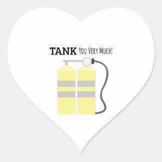 El tanque usted pegatina en forma de corazón