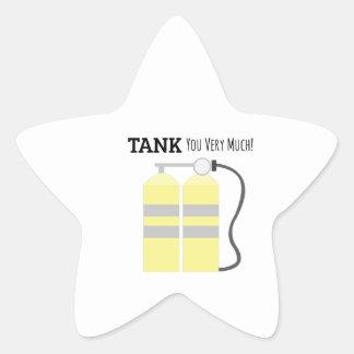 El tanque usted pegatina en forma de estrella