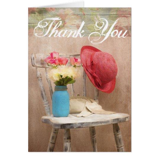 El tarro azul apenado Red Hat de la bola de la Tarjeta De Felicitación
