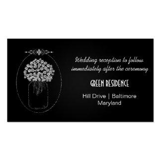 El tarro de albañil rústico de la pizarra florece tarjetas de visita