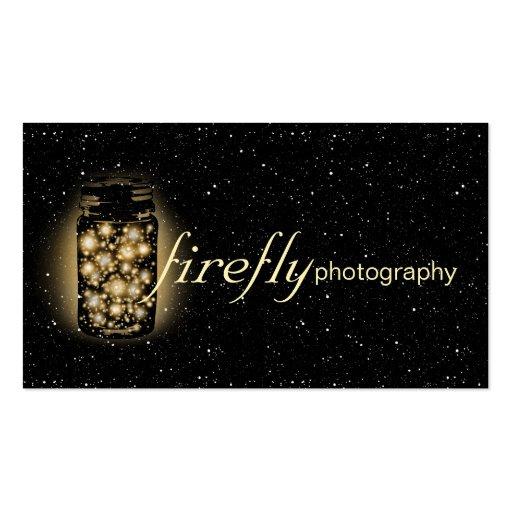 El tarro que brilla intensamente de luciérnagas co tarjetas personales