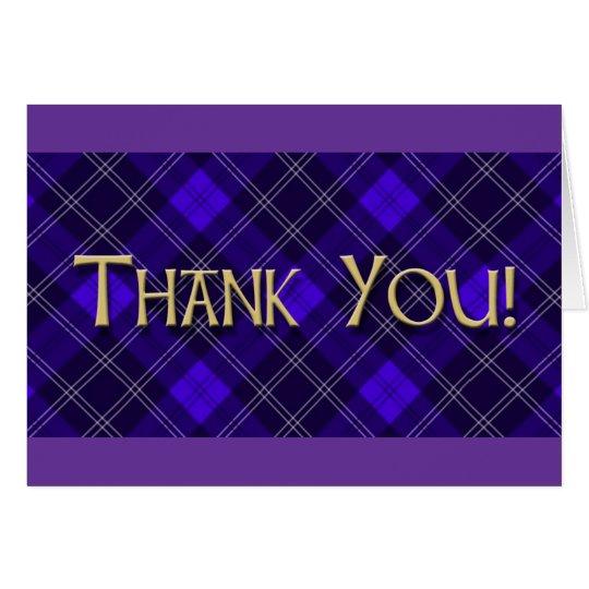 El tartán azul le agradece tarjeta de felicitación