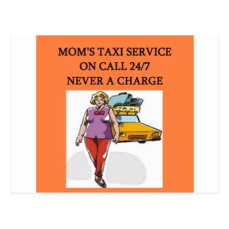 el taxi de la mamá postal