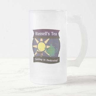 El té de Russell Taza De Cristal