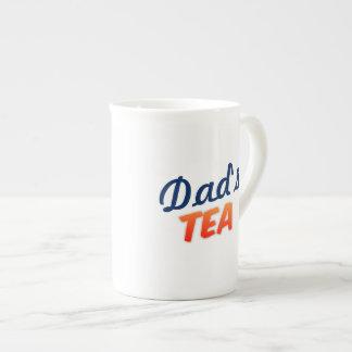 El té del papá ninguna taza blanca de encargo de