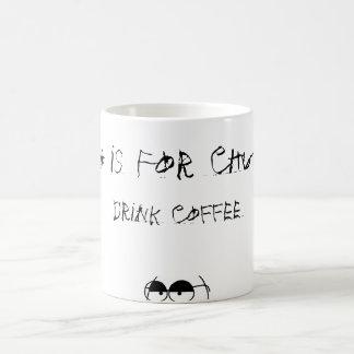 El té está para los zoquetes taza básica blanca