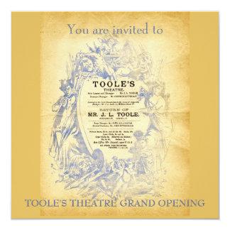 El teatro de Toole Invitación 13,3 Cm X 13,3cm