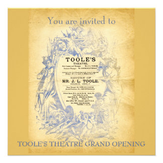 El teatro de Toole Invitacion Personalizada