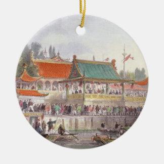 El teatro en Tien-Canta, de 'China en una serie de Adorno Navideño Redondo De Cerámica
