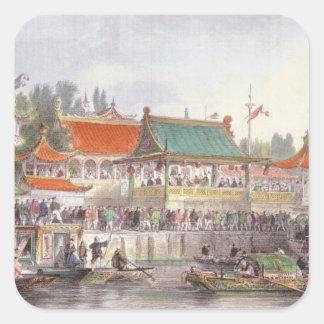 El teatro en Tien-Canta, de 'China en una serie de Pegatina Cuadradas