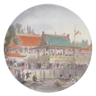 El teatro en Tien-Canta, de 'China en una serie de Plato De Cena