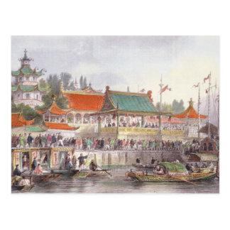 El teatro en Tien-Canta, de 'China en una serie de Postal