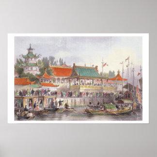 El teatro en Tien-Canta de China en una serie de Posters
