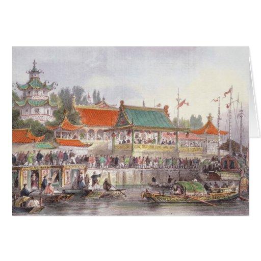 El teatro en Tien-Canta, de 'China en una serie de Felicitación