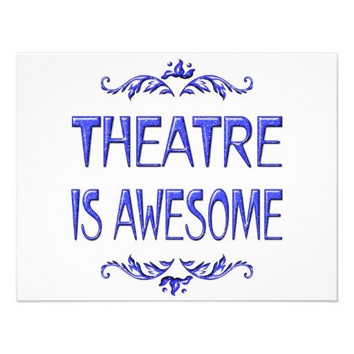 El teatro es impresionante invitación
