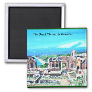 El teatro griego en Taormina - imán