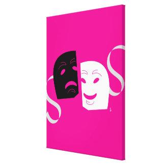 El teatro iconográfico enmascara B+W Impresión En Lienzo