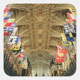 El techo de la capilla de San Jorge, Windsor Pegatina Cuadrada
