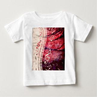 El teclado de piano con música observa Grunge09 Camiseta De Bebé