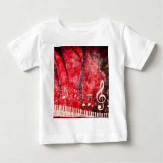 El teclado de piano con música observa Grunge Camiseta De Bebé
