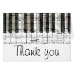 el teclado de piano le agradece tarjeta