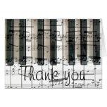 el teclado de piano le agradece tarjeta de felicitación
