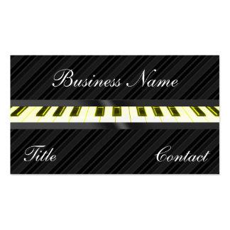 El teclado de piano raya tarjetas de visita