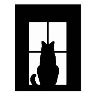 El tecleo del gato de la ventana a modificar para postal
