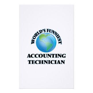 El técnico más divertido de la contabilidad del papelería de diseño