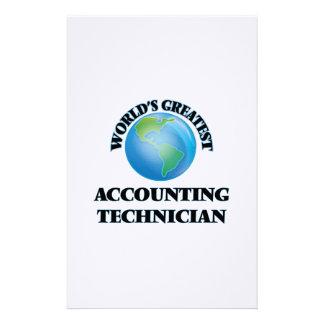 El técnico más grande de la contabilidad del mundo papeleria personalizada