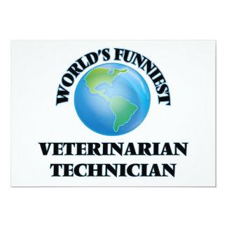 El técnico veterinario más divertido del mundo invitación 12,7 x 17,8 cm
