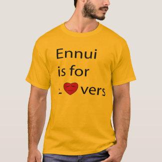 El tedio está para la camiseta de los hombres de