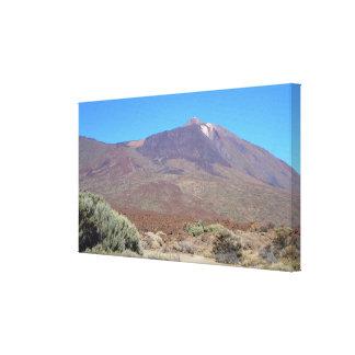 EL Teide, impresión de la lona de Tenerife