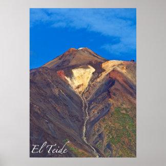 "EL Teide, Tenerife, 16"" X12"", poster (mate) Póster"