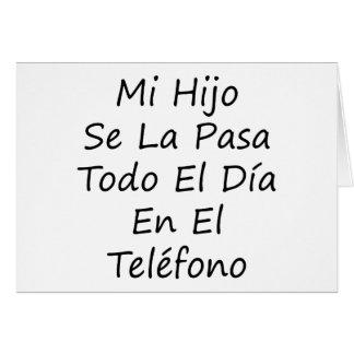 EL Telefono del En del diámetro del EL de Pasa Tod Tarjeta De Felicitación