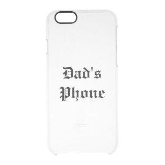 el teléfono del papá funda clearly™ deflector para iPhone 6 de uncommon