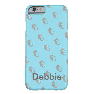 El tema del Seahorse personalizó la caja de la Funda Barely There iPhone 6