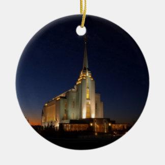 El templo de Rexburg LDS Adorno Para Reyes