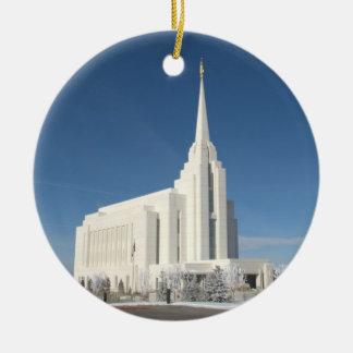 El templo de Rexburg LDS Ornamento De Navidad