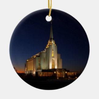 El templo de Rexburg LDS Ornaments Para Arbol De Navidad