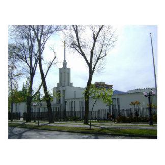 El templo de Santiago Chile LDS Postal