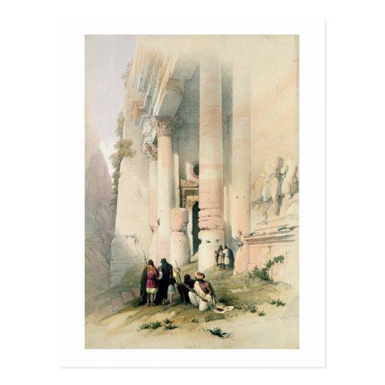 El templo llamó el EL Khasne, Petra, el 7 de marzo Postal